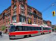 articulated electric streetcar tram in Toronto - 7781757