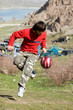 Teenager playing football (series Sport, Extreme, Mountain, Hors