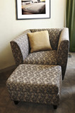 Armchair with ottoman poster