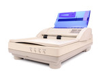 Flatbed scanner with automatic document feader poster