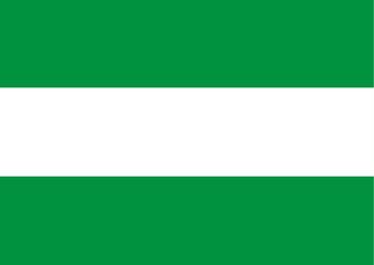bandera de andalucia. comunidad autonoma españa