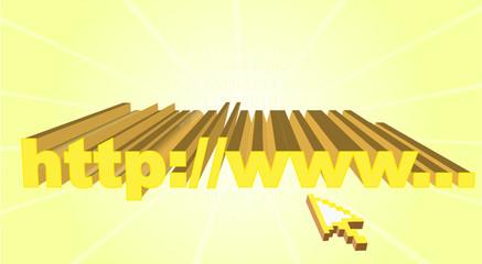 vector illustration of address bar on computer with cursor arrow