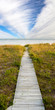 boardwalk and sky