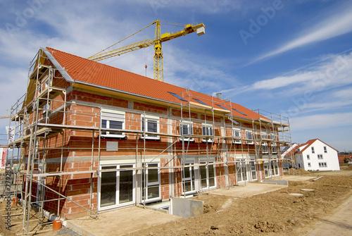 Leinwanddruck Bild Neubaugebiet