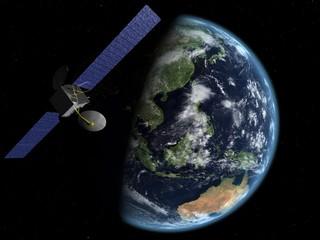 satellite asie-australie nuit