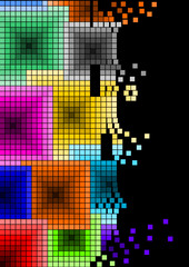 squares colors background ordine
