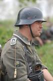 German soldier, WW2 reenacting poster