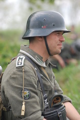 German soldier, WW2 reenacting