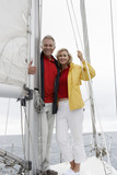 Couple on yacht, portrait