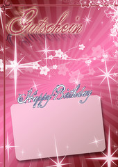 Happy Birthday Gutschein