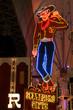 Cowboy Neon Sign in Las Vegas, USA