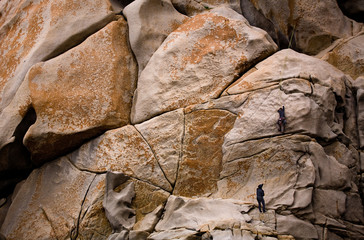 Rock Climbers on the Giant Wall