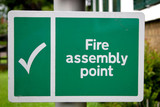 fire assembly sign poster