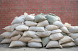 background, pervaded sacks
