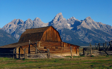 Rustic barn in Grand Teton National Park