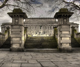 HDR view of St Georges Hall Liverpool, UK poster