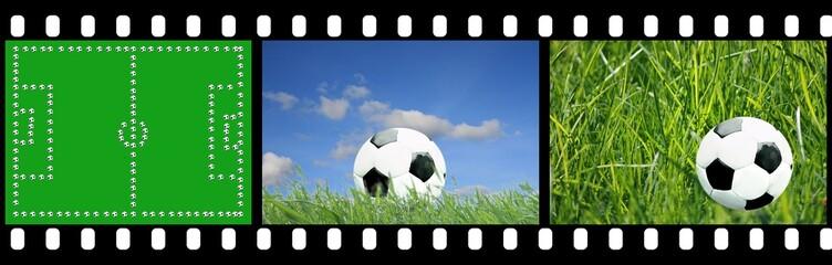 Filmstreifen Fußball