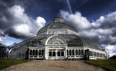 HDR image of Sefton Park Palm house Liverpool, England