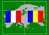 soccer, bandiera francia romania poster