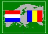 soccer, bandiera olanda romania poster