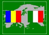 soccer, bandiera italia romania poster