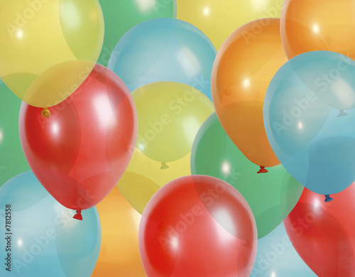 birthday balloons background. Party alloons background