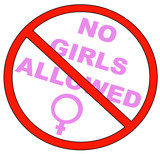 no girls allowed with no symbol