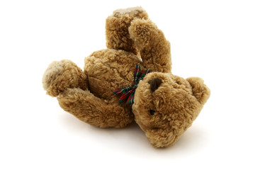 Fallen teddy-bear