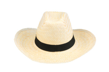Beach hat on white.