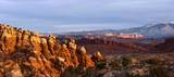 Arches national park in sunset poster