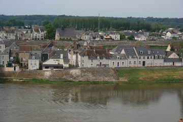 Amboise - habitations au bord de la Loire (Indre-et-loire)