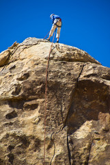 Rock Climber in Joshua Tree National Park, California