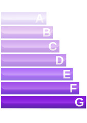 Etiquette classe carbone métal (détouré)