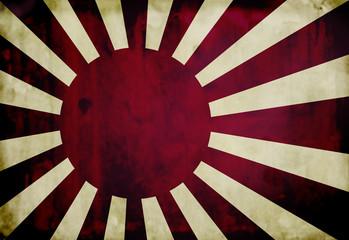 Grunge WWII japanese navy flag