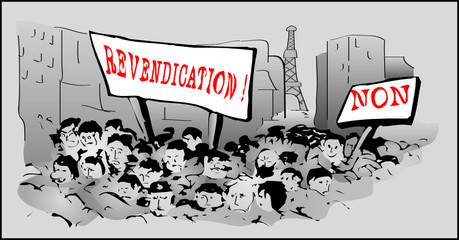 a0281 - Manifestation, grève, mouvement social