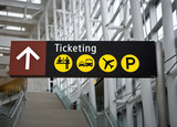 Fototapety Ticketing Sign at Seattle (Sea-Tac) airport