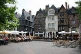 Place Plumereau à Tours (Indre-et-Loire, Région Centre)