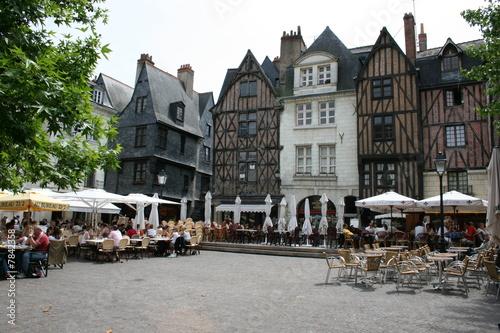 Leinwanddruck Bild Place Plumereau à Tours (Indre-et-Loire, Région Centre)