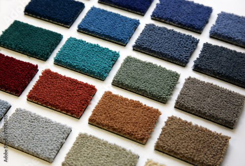 canvas print picture Samples of color of a carpet covering