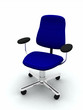 Empty Blue Generic Office Chair