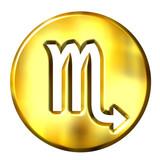 3D Golden Scorpio Zodiac Sign poster