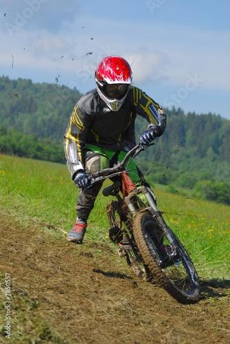 Poster mountain bike racer