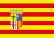 bandera de aragon. españa