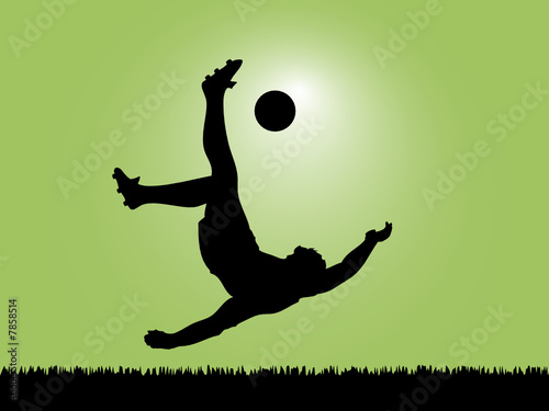 soccer player silhouette. Silhouette Football Player