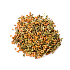 Japanese green Genmaicha tea
