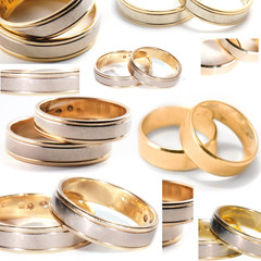 Wedding rings collage