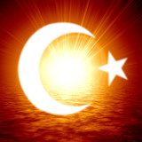 islamic crescent moon poster