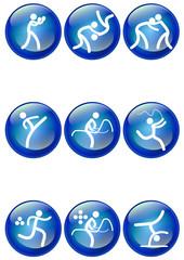 Pictogrammes des jeux olympiques d'été boule bleu(partie 2)