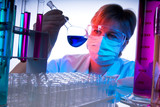 A science technician at work in the laboratory poster
