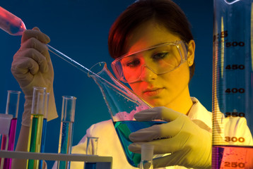 A science technician at work in the laboratory